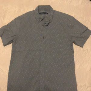 Cotton On Men's Olive print casual button down
